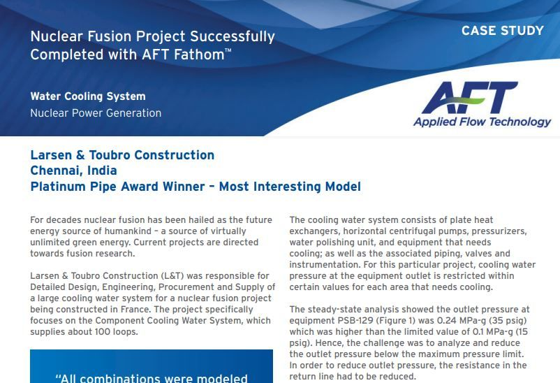 Nuclear Fusion Project Successfully Completed with AFT Fathom™