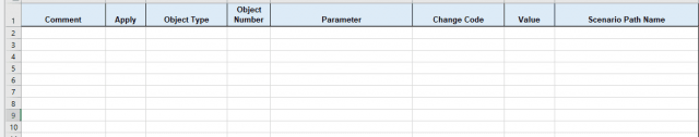 Figure 3. Excel Change Data Spreadsheet format