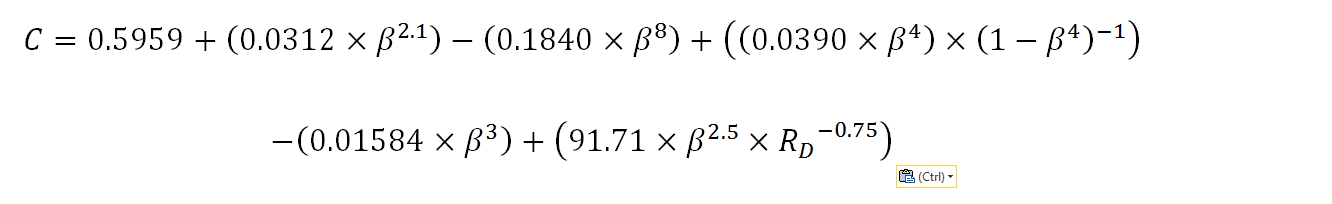 Equation for C