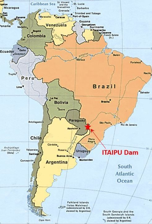 Tour Of The Itaipu Dam In BrazilParaguay AFT Blog - Parana river map