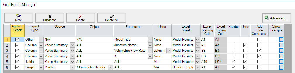 Figure 9 - New Export Settings