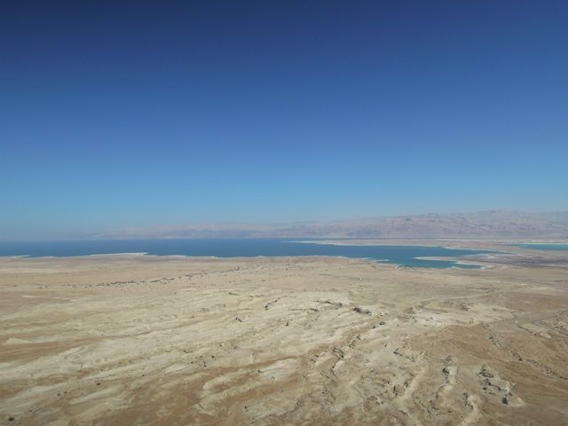 Dead Sea from the Masada Roman Fortress